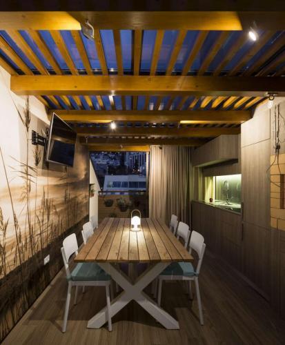 Cozinha Exterior Lido Apartment